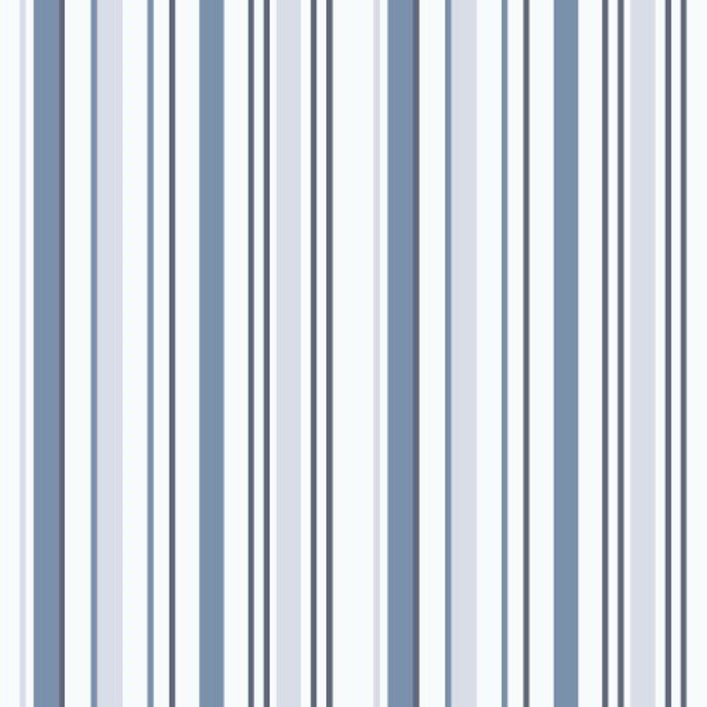 Papel De Parede Coleção Bambinos Azul Branco Listras L01 3318 Bobinex