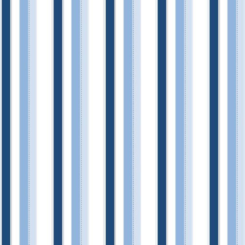 Papel de Parede Coleção Bambinos Azul Claro Azul Escuro Listras L01 3307