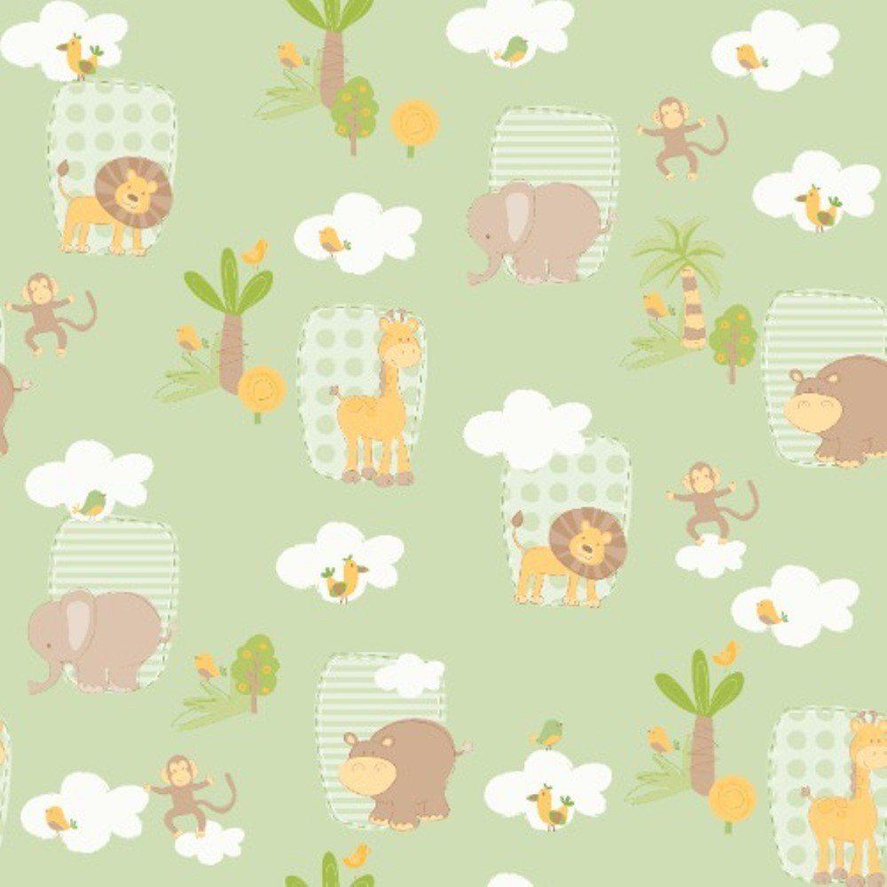 Papel de Parede Coleção Bambinos Verde Selva L01 3303 Bobinex