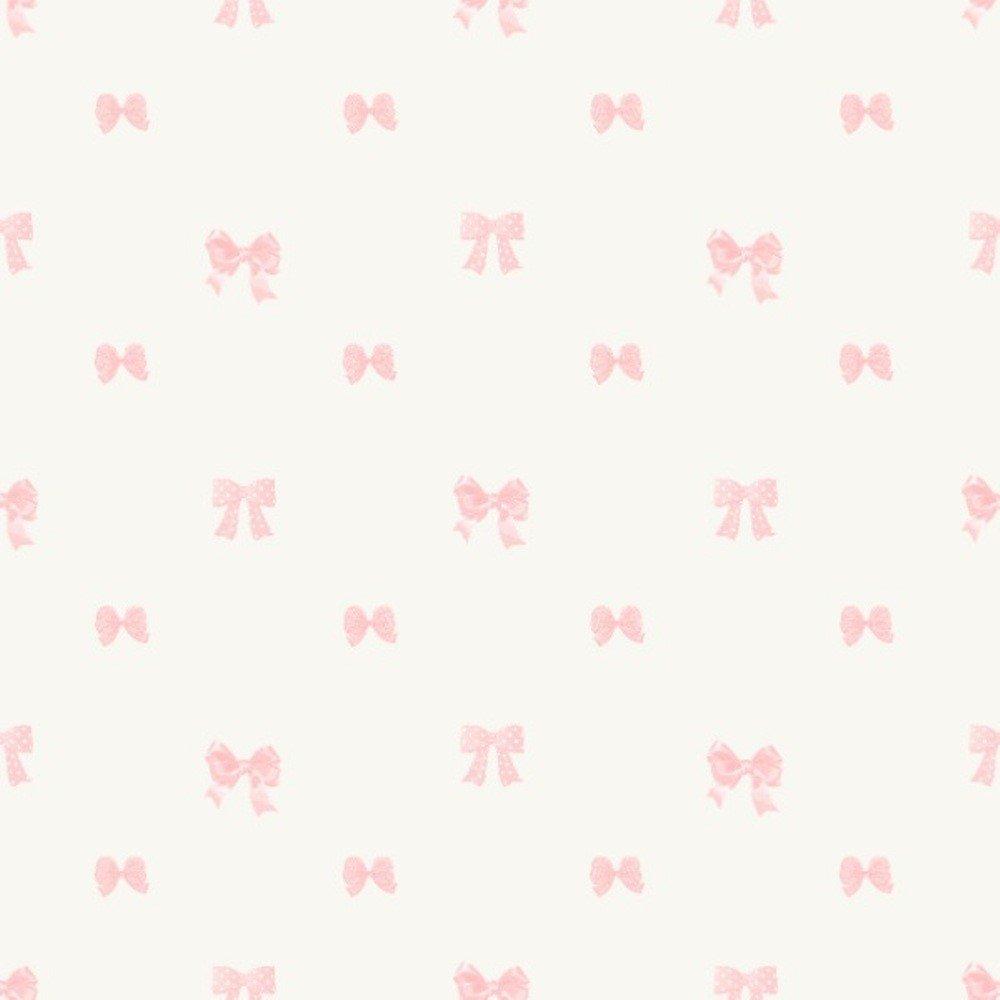 Papel De Parede Coleção Bambinos Bege Rosa Laços L01 3335 Bobinex