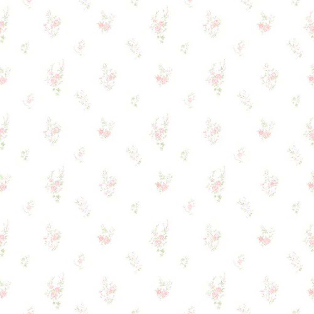 Papel De Parede Coleção Bambinos Branco Rosa Flores L01 3350 Bobinex