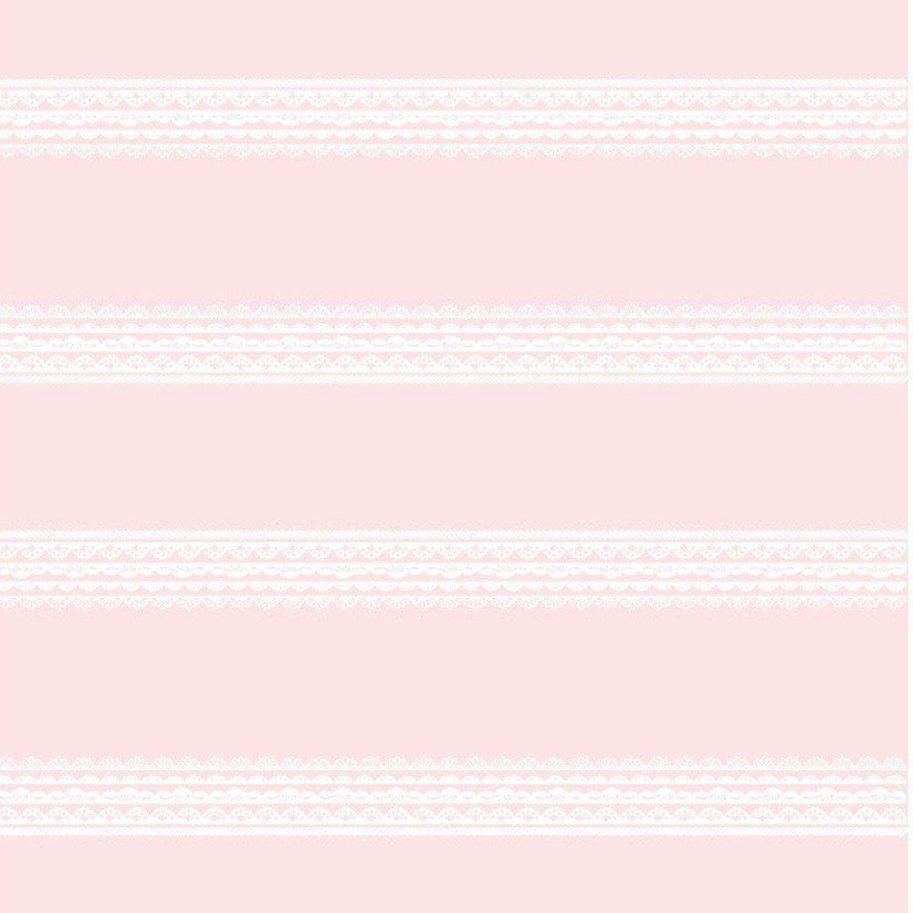 Papel De Parede Coleção Bambinos Rosa Bege Renda L01 3336 Bobinex