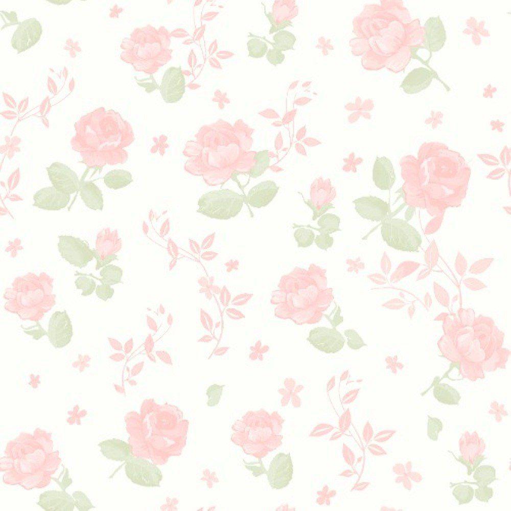 Papel De Parede Coleção Bambinos Rosa Branco Flores L01 3361 Bobinex
