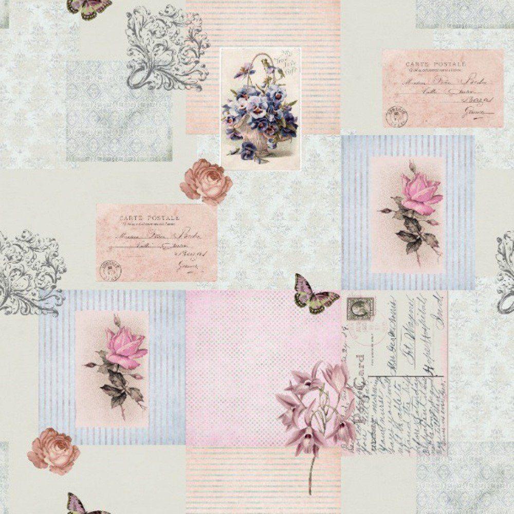 Papel De Parede Coleção Bambinos L01 Rosa Estampado 3345 Bobinex