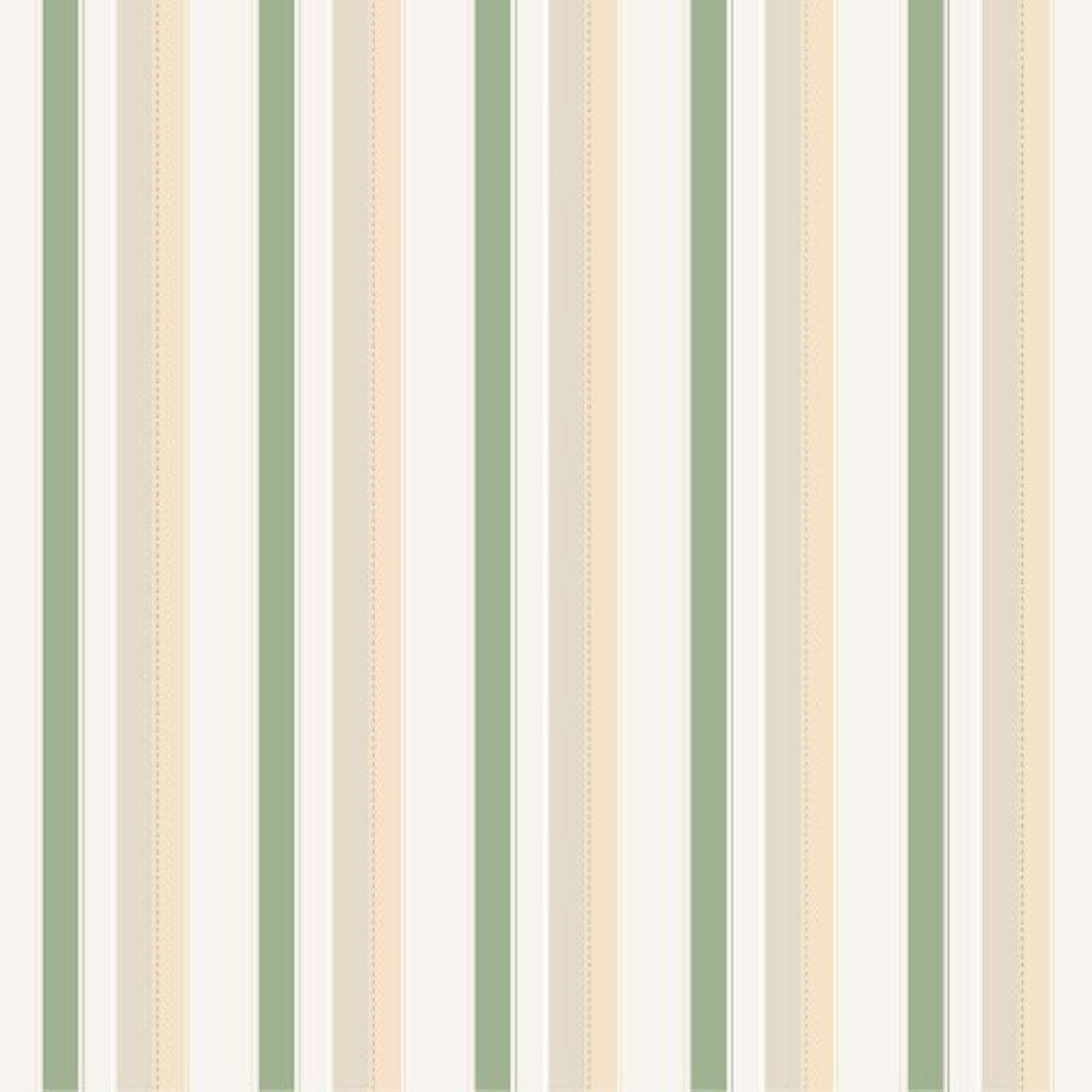 Papel De Parede Coleção Bambinos Verde Branco Listras L01 3313 Bobinex