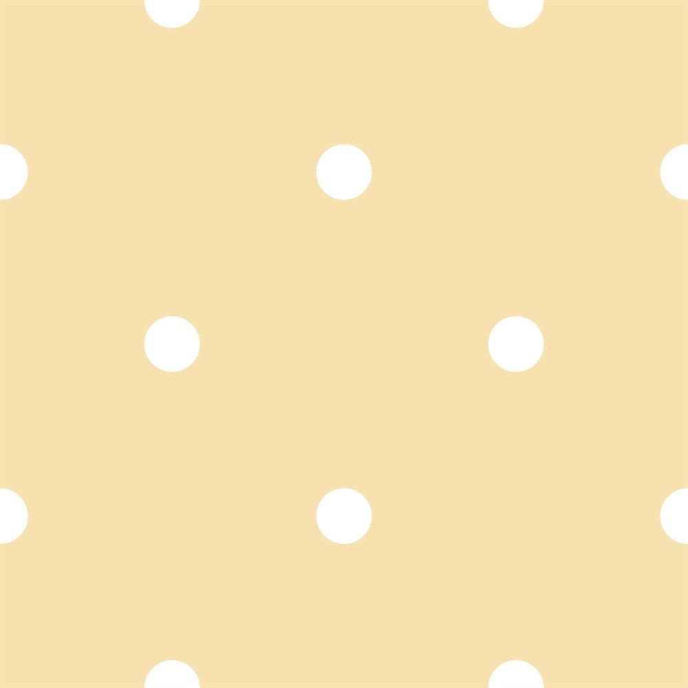 Papel De Parede Coleção Bim Bum Bam Amarelo Branco Poá L01 2216 Cristiana Masi