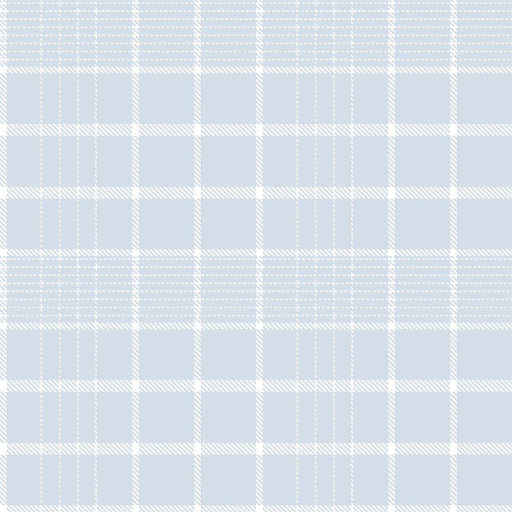 Papel De Parede Coleção Bim Bum Bam Azul Branco Xadrez L01 2243 Cristiana Masi
