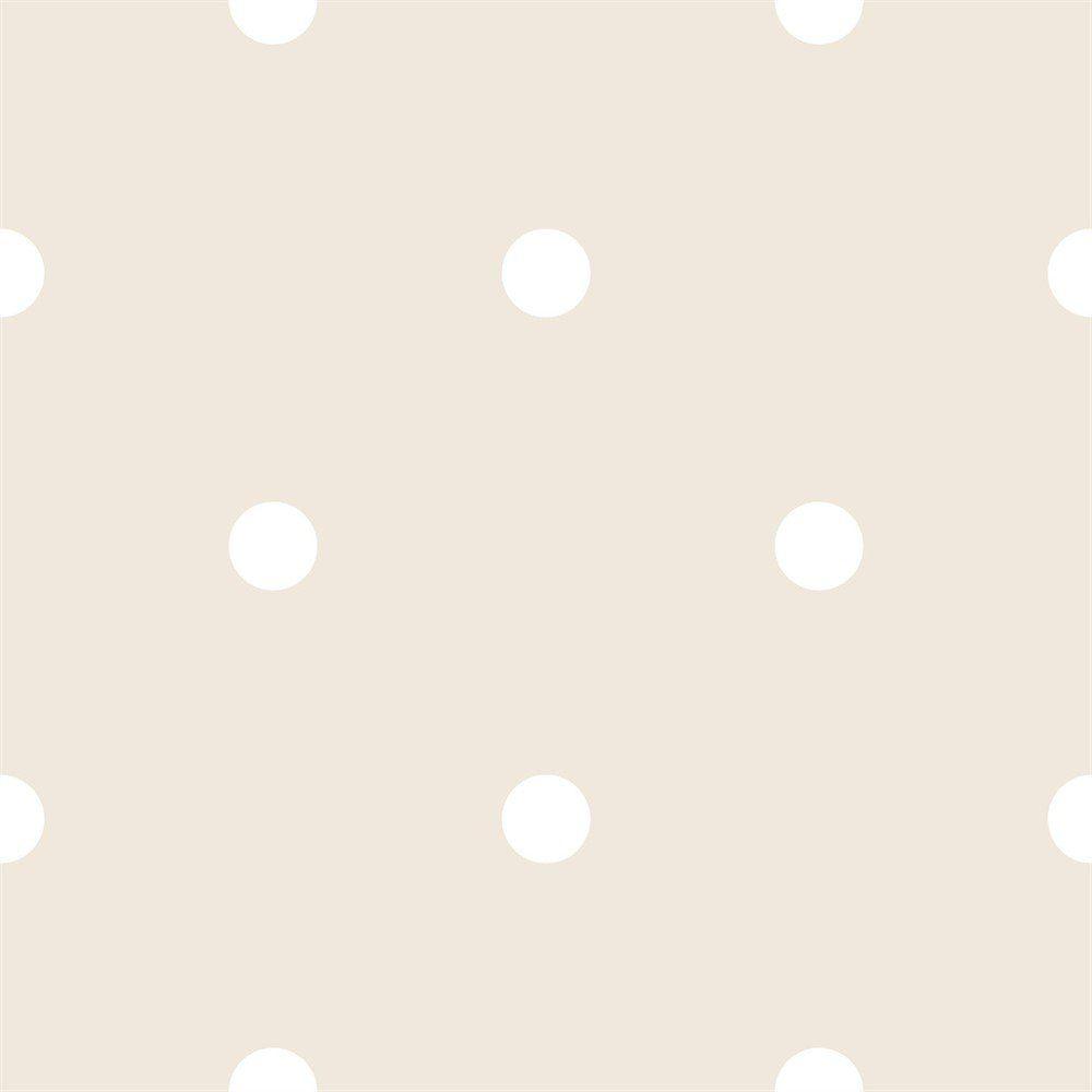 Papel De Parede Coleção Bim Bum Bam Bege Branco Poá L01 2217 Cristiana Masi