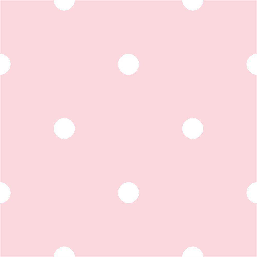 Papel De Parede Coleção Bim Bum Bam Rosa Branco Poá L01 2218 Cristiana Masi