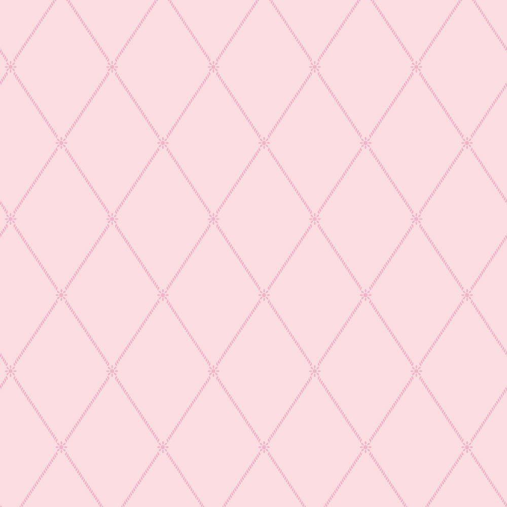 Papel De Parede Coleção Bim Bum Bam Rosa Quadriculado L01 2214 Cristiana Masi