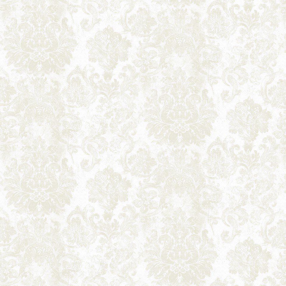 Papel De Parede Coleção Diplomata Arabesco L01 Branco Bege 3107