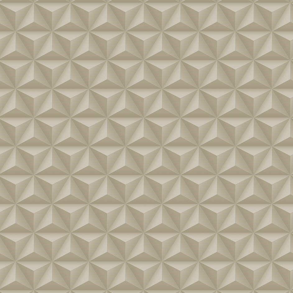 Papel De Parede Coleção Diplomata Geométrico 3D Bege L01 3130