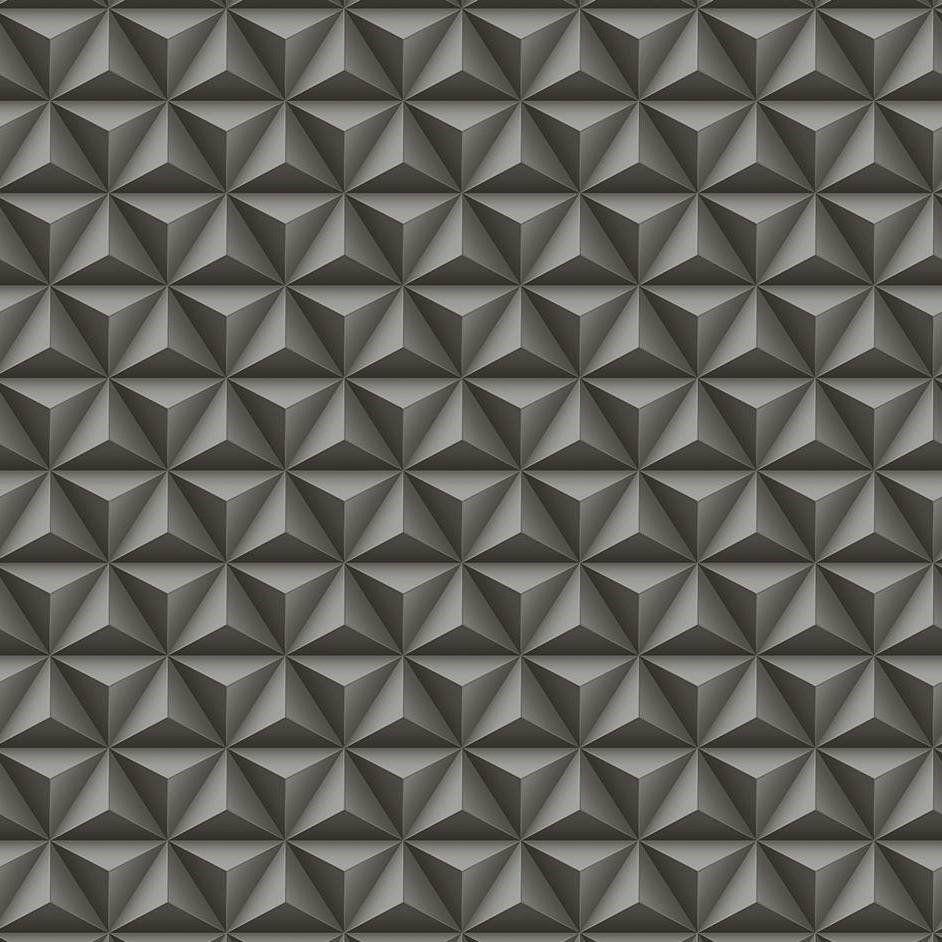 Papel De Parede Coleção Diplomata Geométrico 3D Preto L01 3123