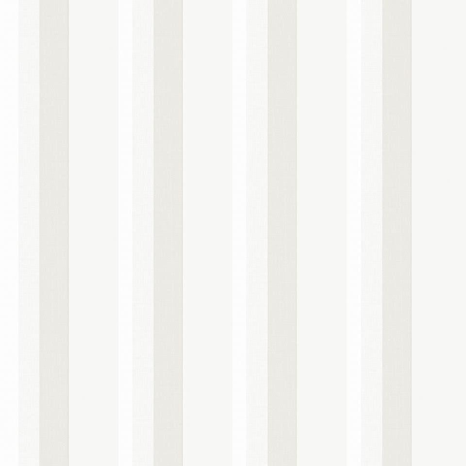 Papel De Parede Coleção Diplomata Listrado Trama Tecido Branco, Gelo e Bege L01 3139