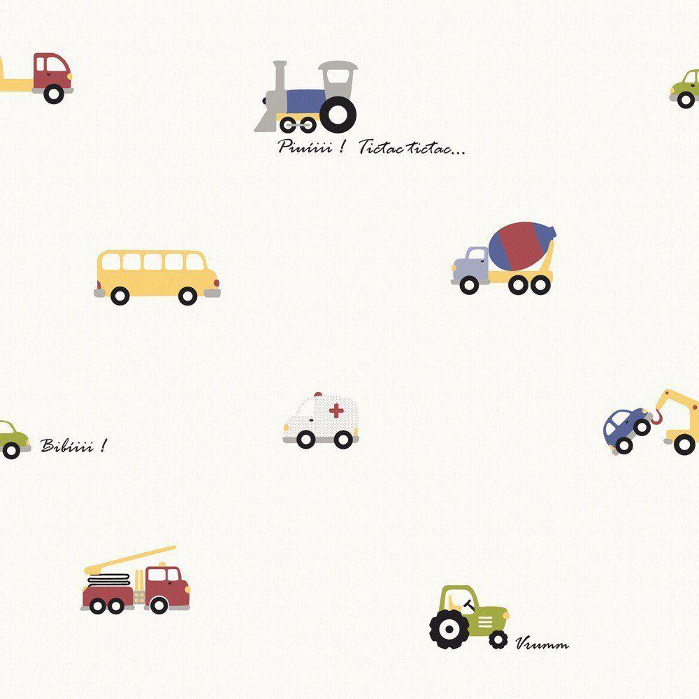 Papel De Parede Coleção Infantário Bege Carros L01 1704 Bobinex
