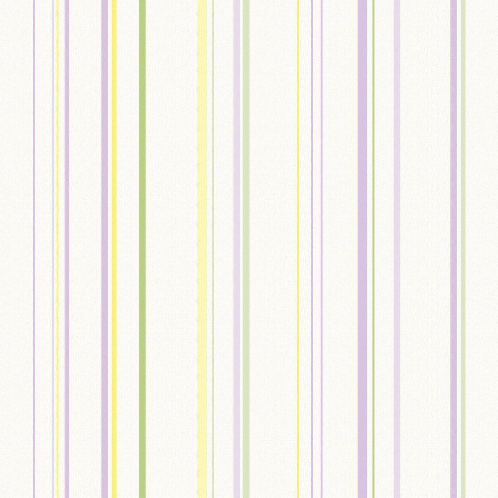 Papel De Parede Coleção Infantário Bege Lilás Listras L01 1757 Bobinex