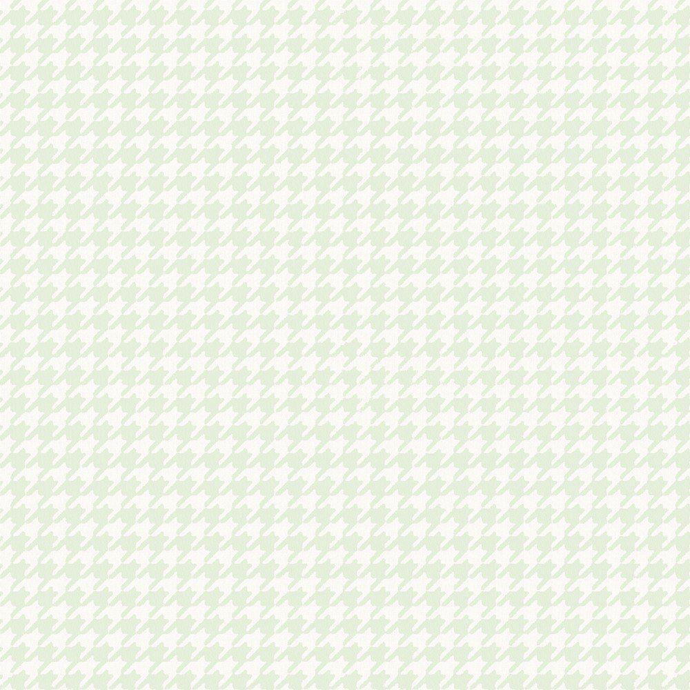 Papel De Parede Coleção Infantário Verde Branco Pied-Poule L01 1735 Bobinex
