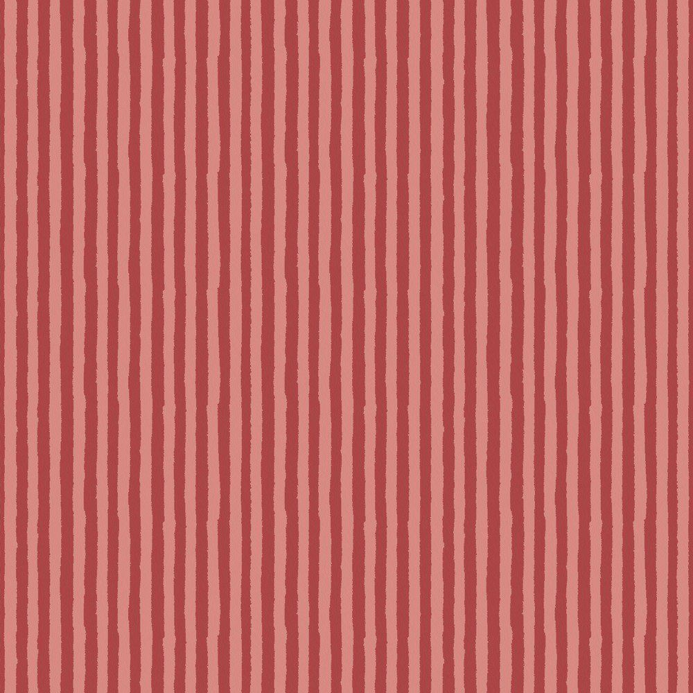 Papel De Parede Coleção Infantário  Vermelho Listras L01 1749 Bobinex