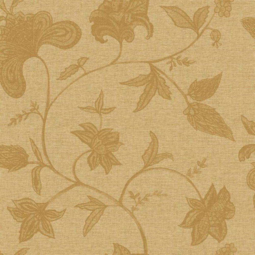 Papel de Parede Natural Bege Marrom Flores L01 1406 Bobinex