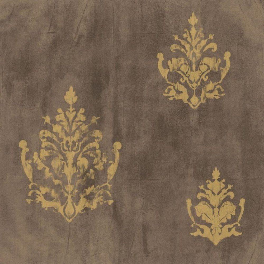Papel de Parede Natural Marrom Dourado Arabesco L01 1430 Bobinex