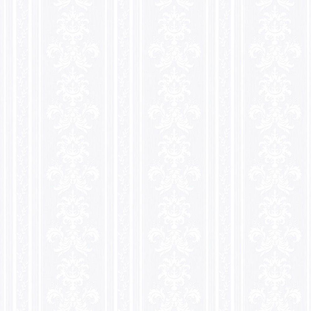 Papel de Parede Relevos Listras e Arabescos Branco L01 3400 Bobinex