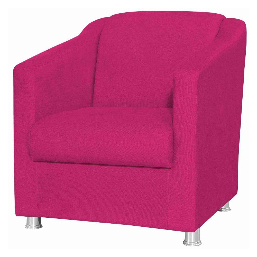 Poltrona Decorativa Laura L02 Suede Pink - Lyam Decor