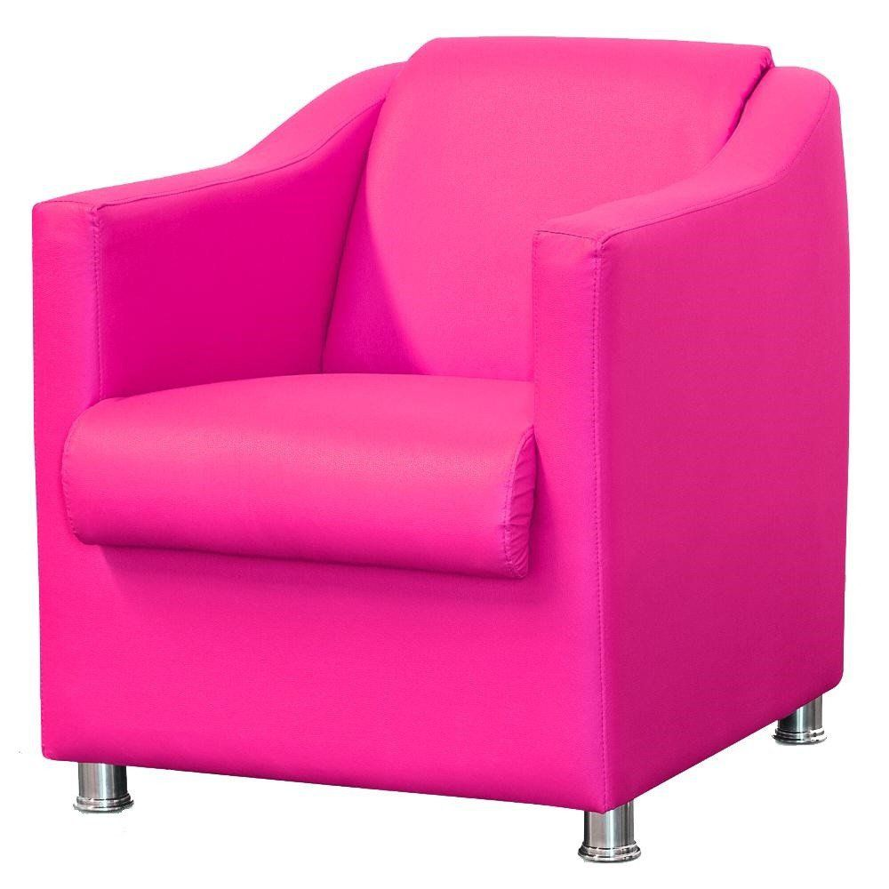 Poltrona Decorativa Para Sala e Escritório Laura L02 Corino Pink - Lyam Decor