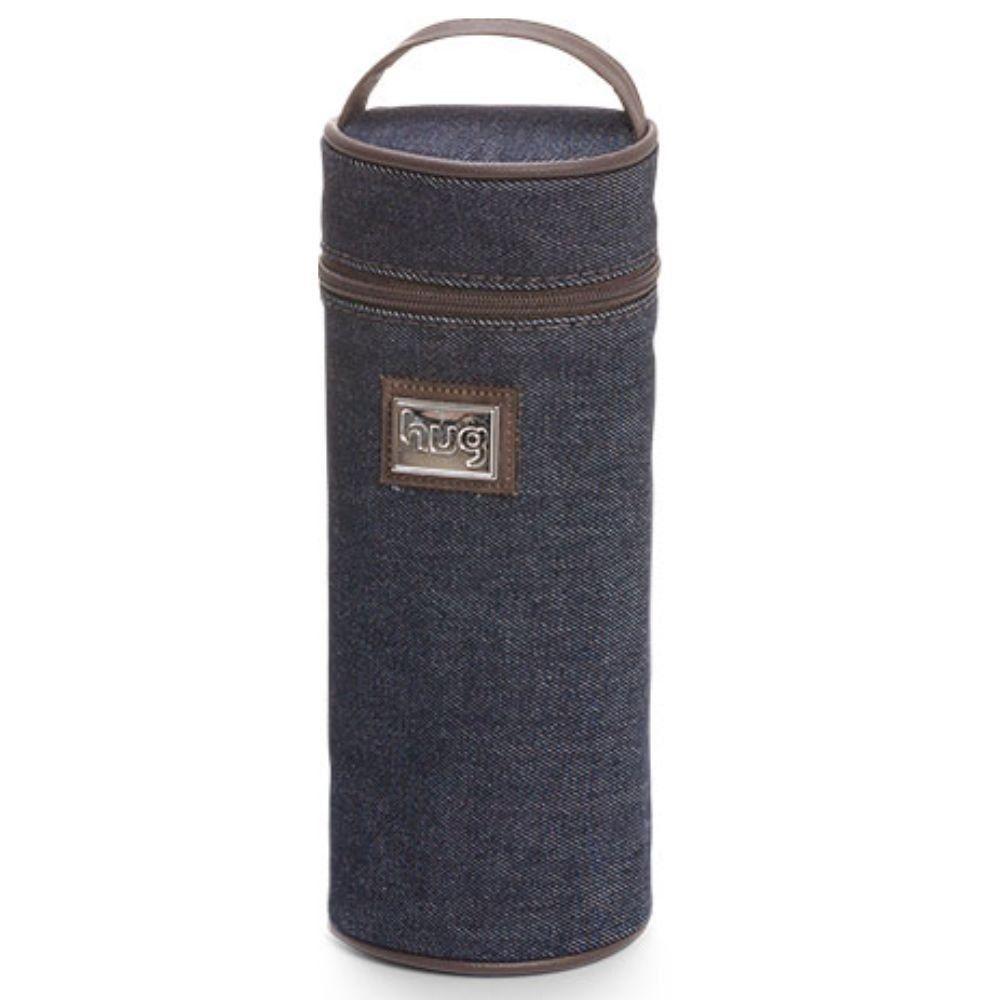 Porta Mamadeira Térmica London Jeans Azul Marinho P - Hug Baby