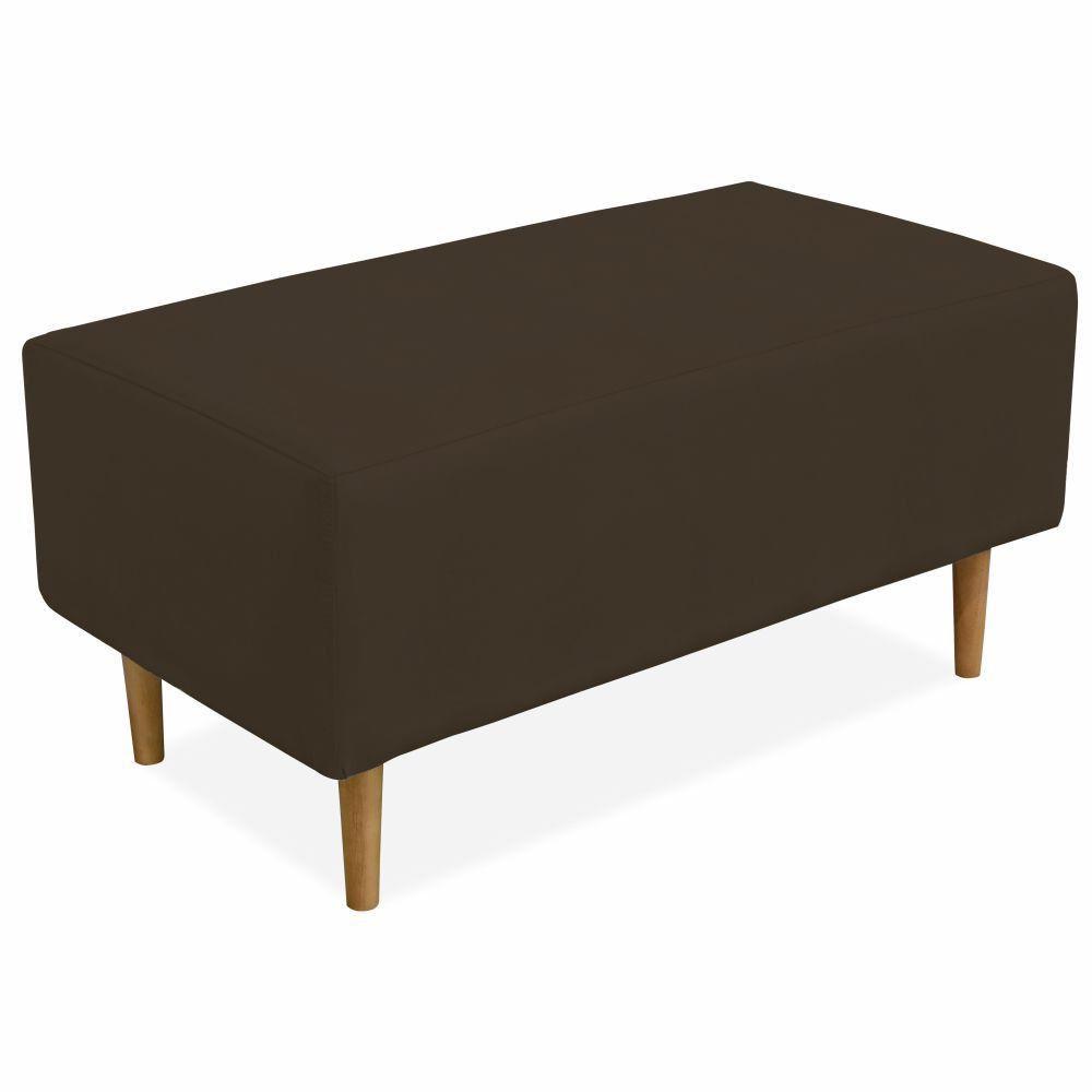 Puff Decorativo Sala de Estar Cléo W01 Pés Palito 90 cm Suede Marrom - Lyam Decor