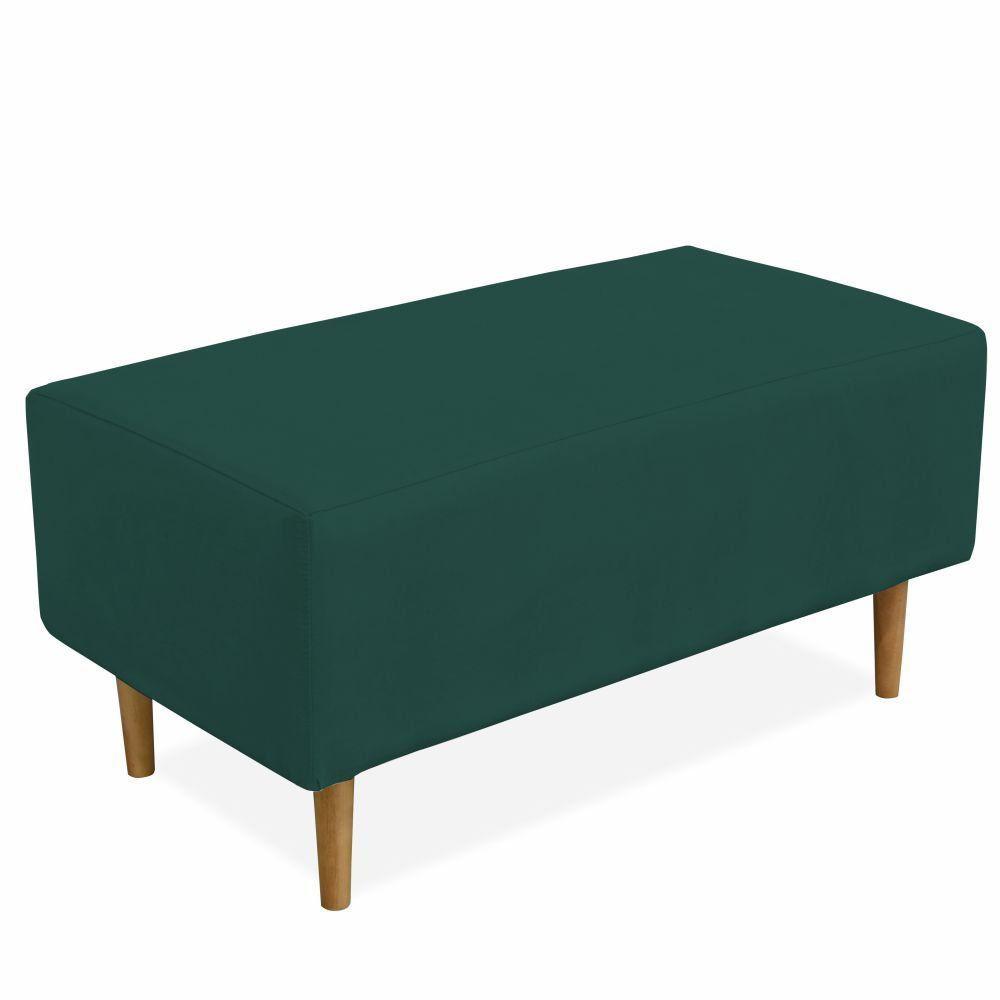 Puff Decorativo Sala de Estar Cléo W01 Pés Palito 90 cm Suede Verde Musgo - Lyam Decor