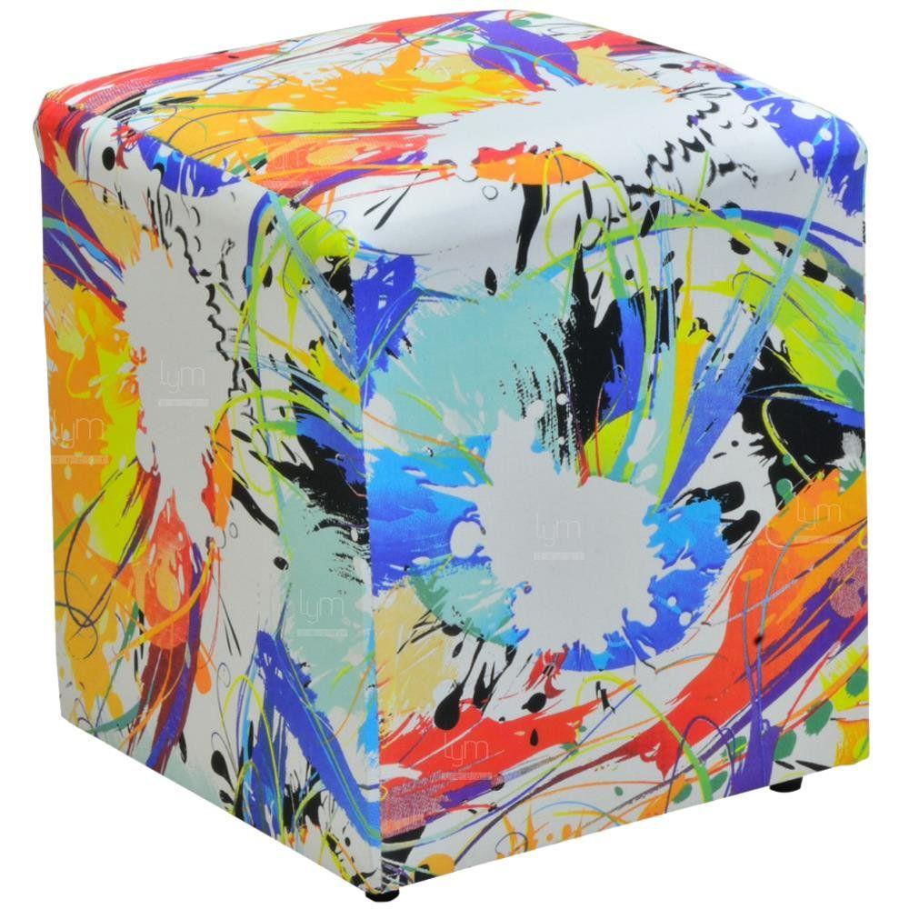 Puff Quadrado Decorativo L02 Collor Impermealizado - Lyam Decor