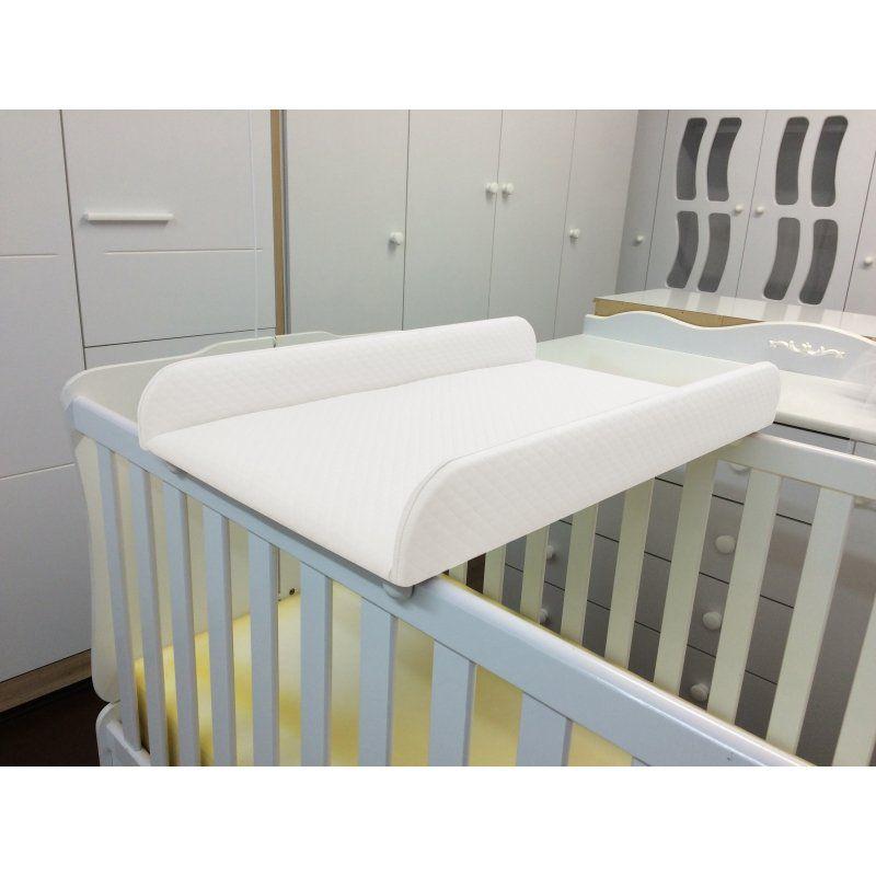 Trocador de Fraldas Almofadado para Berço Corino Branco P02 - Lyam Decor