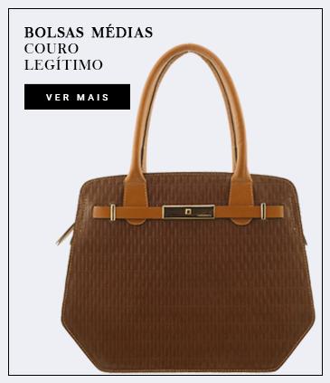 bolsas em couro legítimo de tamnho médio