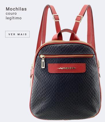 mochilas femininas em couro legítimo