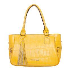 Bolsa com Divisórias Feminina Amarela