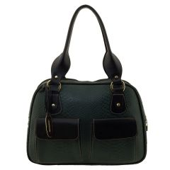 Bolsa com Divisórias Verde Escuro