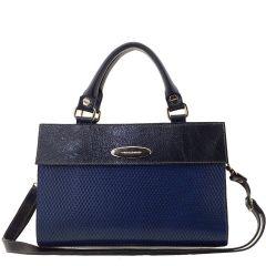 Bolsa Couro Feminina Azul