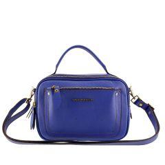 Bolsa Couro Legítimo Pequena Azul