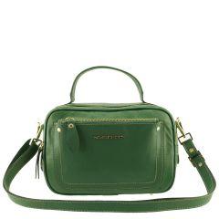 Bolsa Couro Legítimo Pequena Verde