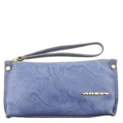 Bolsa de Mão ou Necessaire com Alça Azul Claro