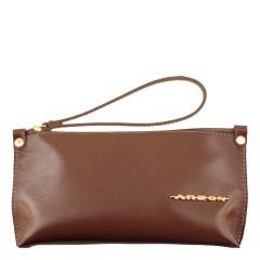 Bolsa de Mão ou Necessaire com Alça Liso Chocolate