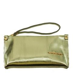 Bolsa de Mão ou Necessaire com Alça Metalizado Verde