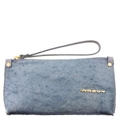 Bolsa de Mão ou Necessaire com Alça Pêlo Azul Bebê