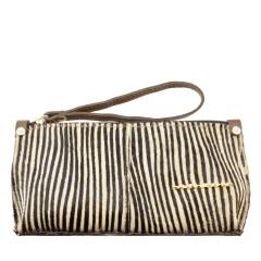 Bolsa de Mão ou Necessaire com Alça Pêlo Zebra