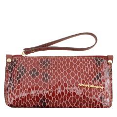 Bolsa de Mão ou Necessaire com Alça Verniz Vermelha