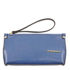 Bolsa de mão ou Necessaire com Alça Verniz Azul