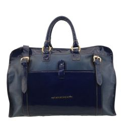 Bolsa de Viagem Couro Azul Marinho