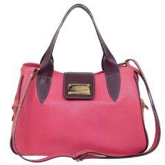 Bolsa em Couro com Divisórias Rosê