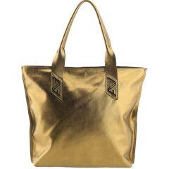 Bolsa em Couro Sacola Bronze