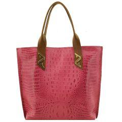 Bolsa em Couro Sacola Pink